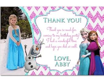 Frozen Thank You Card - printable - DIY - digital file (FT2)