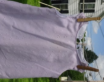Lavender Eyelet Baby Dress