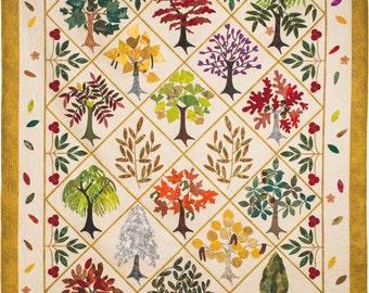 Pattern for Leafy Ladies Appliqued Quilt