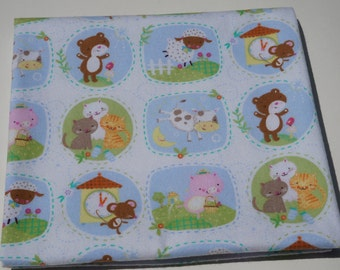 Baby Receiving Blanket, Classic Nursery Rhymes, Cows and Pigs, Sheep and Cats, Baby Blanket, Large Blanket, Swaddle Blanket, Flannel Blanket