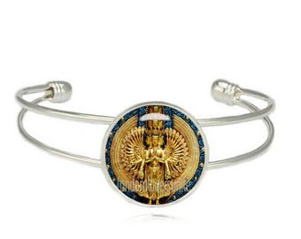 Avalokiteshvara Cuff Bangle Thousand armed Avalokiteshvara Cuff Bracelet Compassionate and merciful Bodhisattva Buddhism Jewelry