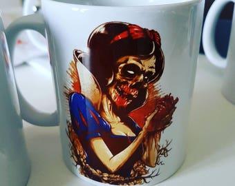 Mug custom zombie snow white have name of your choice