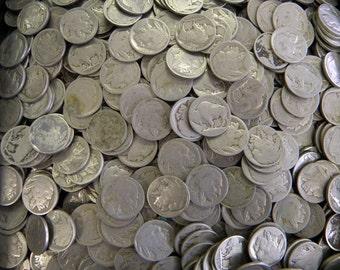 10 NO Date Indian Head Buffalo Nickels Coins Lot-SKU: USM-BnWoD1