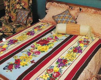 Summer Symphony Crochet Afghan Blanket Pattern, Sofa Throw, Bedding, Home Decor, Bedspread, Floral Afghan, Rose Blanket, Annie's Crochet