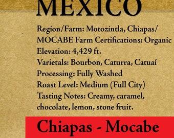 "Roasted Coffee - Mexico - Chiapas - Mocabe - Organic - 1lb-5lb ""Roasted upon Order"" RöstHaus Coffee Roasterie"