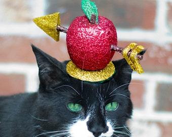 William Tell Cat Hat/ Apple Arrow Kitty Fascinator