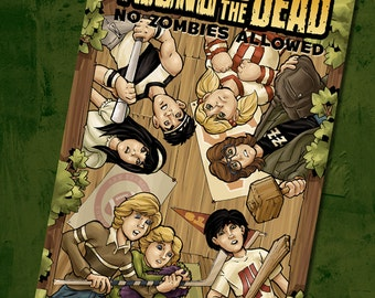 Young and the Dead: No Zombies Allowed Issue 2 comic book- zombie comics- kids vs. zombies- Goonies- Monster Squad- Walking Dead- undead