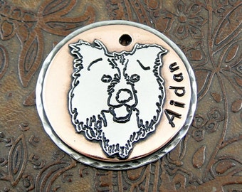 Personalized lemon dog id tag handmade pet id tag dog collar custom border collie dog id tag personalized pet id tag dog collar id tag sciox Choice Image