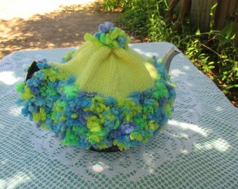 Tea Cosy Tea Cozy - Hand Knitted, Hand Knit Vintage Style, Teapot Cozy, Teapot Cosy