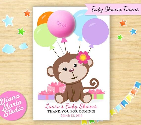 Monkey Baby Shower Party Favors: Monkey Baby Shower Favors EOS Lip Balm Monkey Baby Shower
