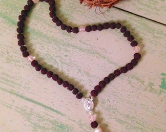 CUSTOM Rose Petal Bead Rosary