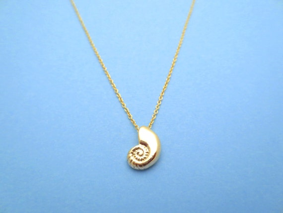 Ariel Voice Gold filled Chain Seashell Shell Necklace