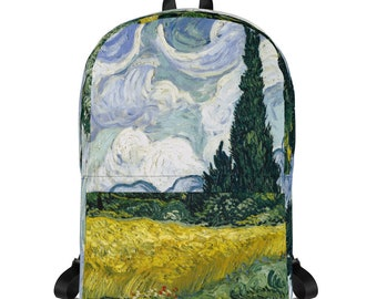 Backpack ~ Wheat Field with Cypresses ~ VAN GOGH