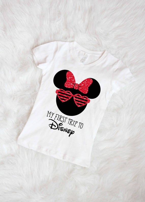 First Disney Trip Shirt Little Girls Disney Shirt Minnie Mouse