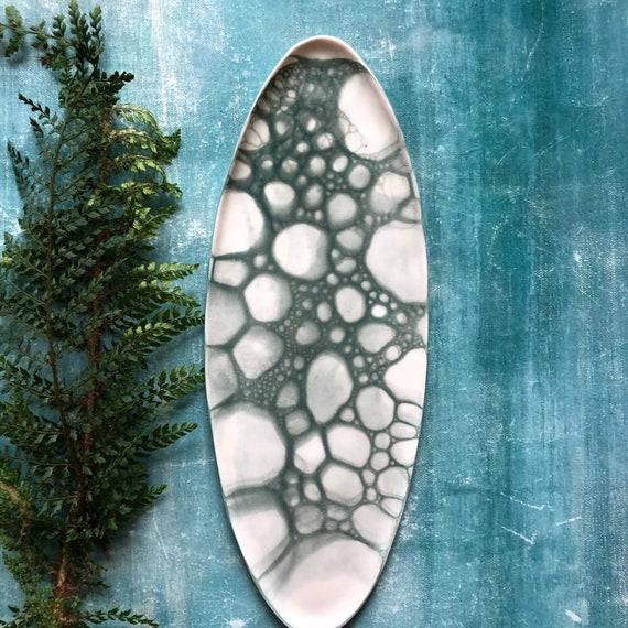 Mermaid series platter porcelain platter handmade ceramics Danish design