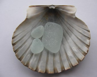 Beach Sea Glass - Sea Foam Genuine Top Drilled - Jewelry Supply