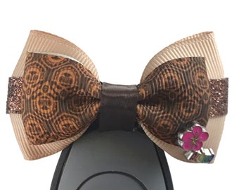 """Polynesian Tiki Magic Band Bow or Apple Watch Bow, 2"""" Mini Hair Bow, Planner Clip Bow - Resort Collection"""