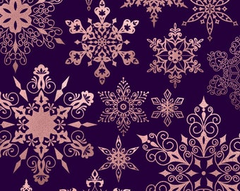 Snowflake clipart, rose gold snowflake, christmas snowflake clipart, rose gold christmas clipart, xmas clipart, christmas graphics