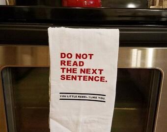 Funny Rebel Tea Towel