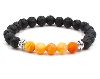 Essential Oil Diffuser Bracelet Lava Rock Bracelet Aromatherapy Bracelet Stacking Bracelet Yoga Bracelet