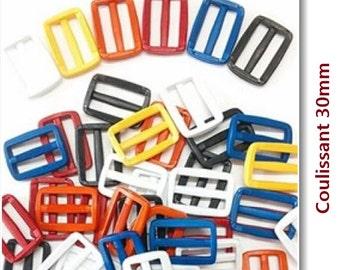 3 Sliding, loop, 30mm, 1 1/4 inch, plastic,
