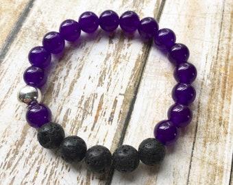20% OFF Purple Jade Essential Oil Diffuser Bracelet