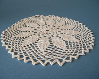 Small crochet table doily Vintage crochet table centerpiece