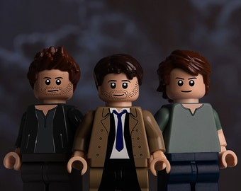 Supernatural themed A5 photographic print featuring LEGO minifigs