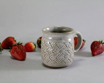 Ceramic Tankard Mug - 12oz - Stamp Texture
