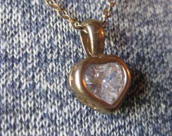 Tiny Crystal Caged Heart