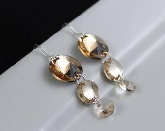 Auric Earrings (E944) - Swarovski Crystal & Sterling Silver