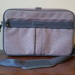 Vintage Samsonite/ Samsonite Carry On/ Samsonite Tweed Bag/ Samsonite Pink Tweed/ Samsonite Silhouette 4/ Vintage Samsonite Luggage/ Tweed