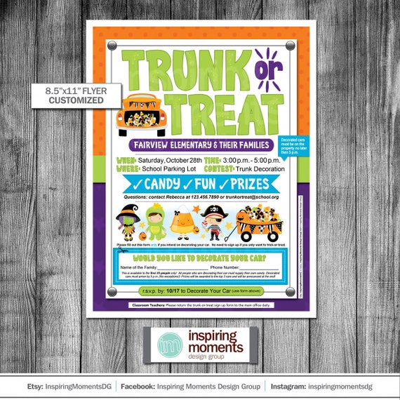 Etsy Seller Inspiring Moments DG Trunk or Treat Flyer