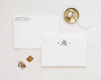 Personalized Return Address Stamp Set, Wedding Favor Stamp, Custom Rubber Stamp, Custom Address Stamp, Monogram Stamps, Housewarming Gift