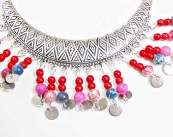 Ethnic tribal Inaya chic necklace
