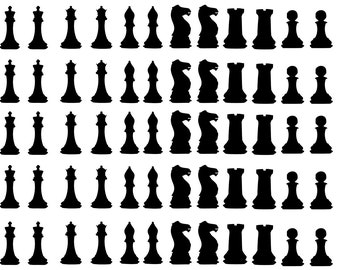 60 Chess Stickers, Chess Figures Party Stickers, Gift Favor Stickers, Window Decals, Envelope Sealers, Removable Wallpaper, Chess Wall Art