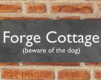 Personalised Slate / House Sign / Plaque / Door / Number / Gate / 400mm x 150mm