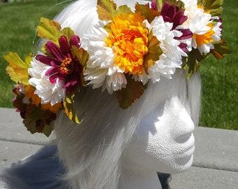 Autumn Queen Flower Crown