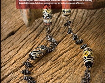 Tribal Adornments Necklace Tutorial, Lampwork Beads, Mixed Chain