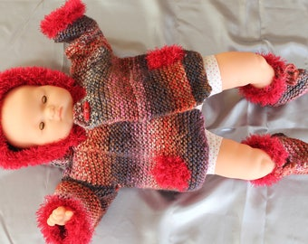 hand knit, baby, Corolla, hooded coat, knitted