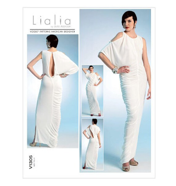 Vogue Lialia sewing pattern abstract Grecian dress Size
