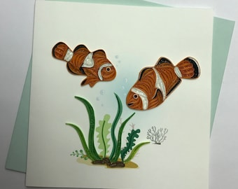 Clown Fish Quilling Greeting Card