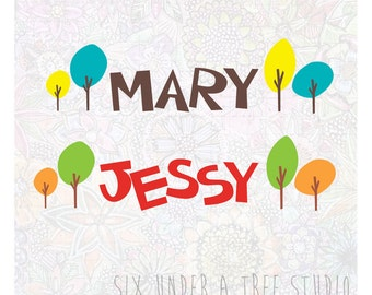 Adorable Name  Wall Vinyl Decals Art Graphics Stickers