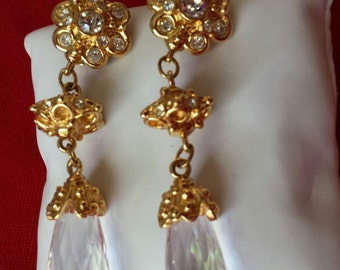 Vintage Avon Jose Maria Barrera Crystal Earrings