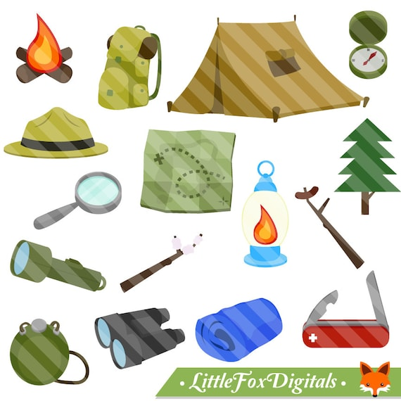 Boy Scout Kids Camping Clipart Collection Photobooth Prop Artwork From LittleFoxDigitals On Etsy Studio