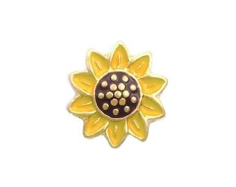 Sunflower Floating Charm