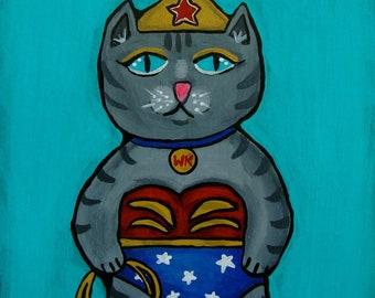 Original Folk Art Wonder Kitty