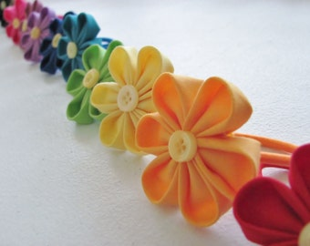 Tsumami Kanzashi Hairband, Japanese Flower Hairband, Flower Hair Accessory