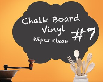 Kitchen Chalkboard Decal Curvy Shape 07: Vinyl Wall Decal, Kitchen Wall Decal Decor, Blackboard, Chalk Board, Kitchen Decor, Playroom Decor