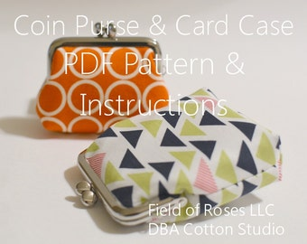Frame Coin Purse Credit Business Card Case PDF Pattern Tutorial